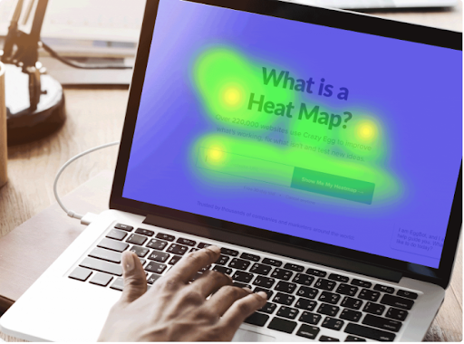 Heat maps show you the areas of your site that attract a lot of interest in your audience based on clicks - Web Analytics Services
