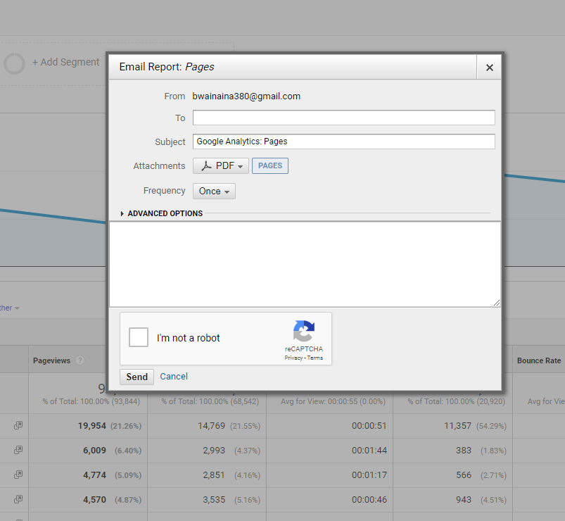 Setting up an automatic Google Analytics monthly report is easy - Just add the recipients email