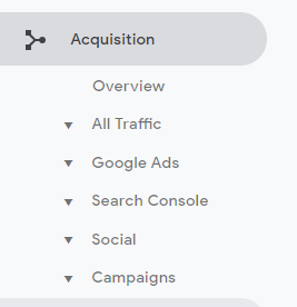 The Acquisition reports show you how the users got on your site. This allows you to see your best and worst traffic sources - What Does Google Analytics Do